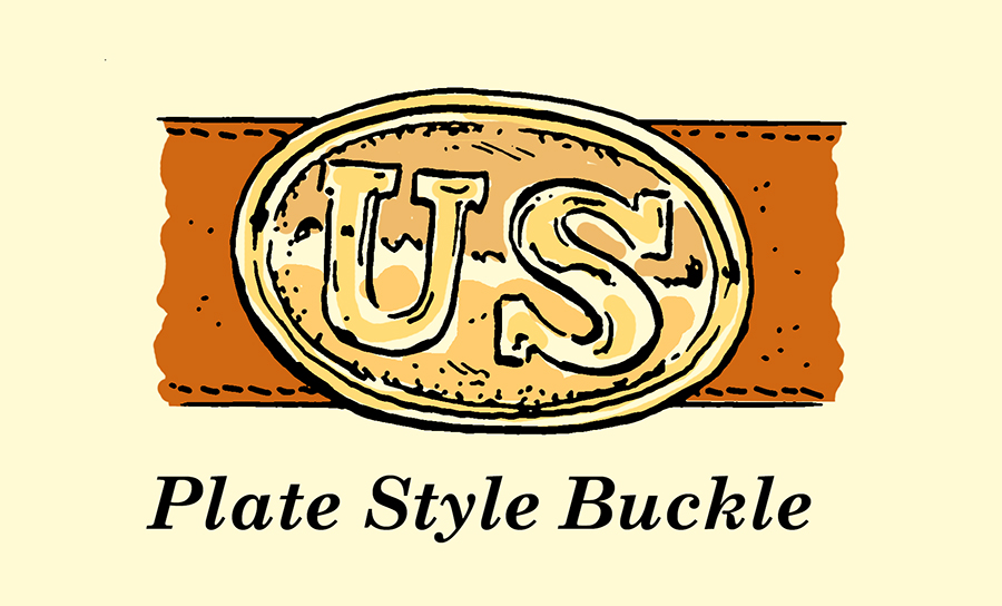 plate style belt buckle
