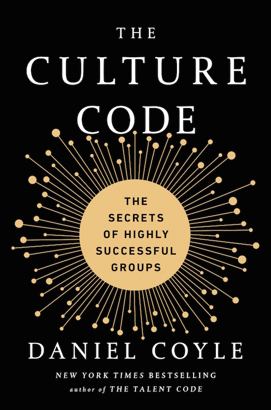 """Book cover of """"The Culture Code"""" by Daniel Coyle."""