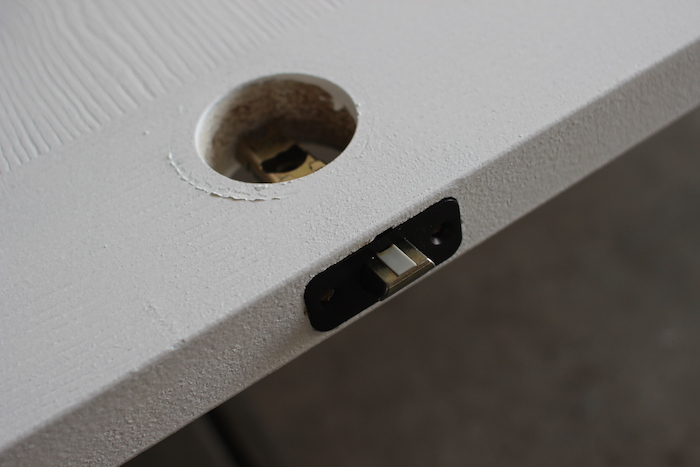 Insert and secure the latch unit.