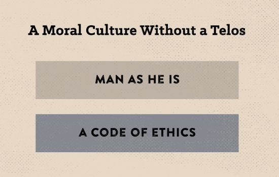 Poster about moral culture without a telos.