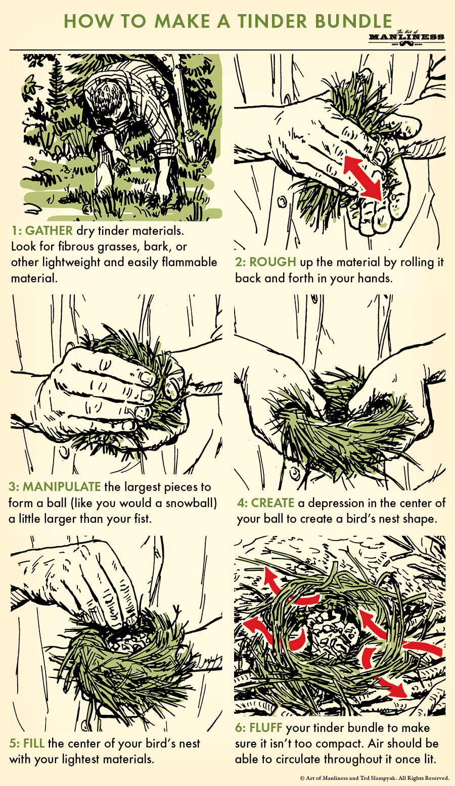 How to Make a Tinder Bundle | The Art of Manliness