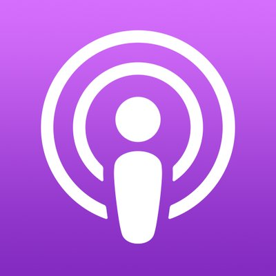 Logo of podcast app.