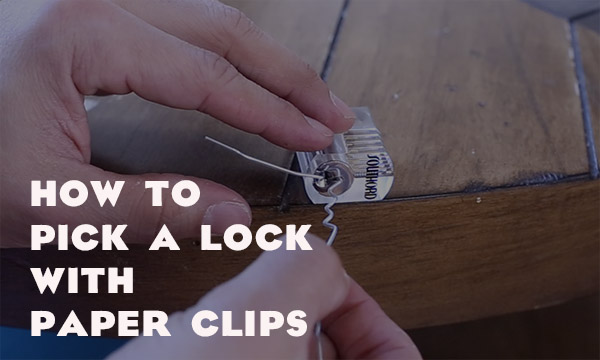pick a lock with a paper clip