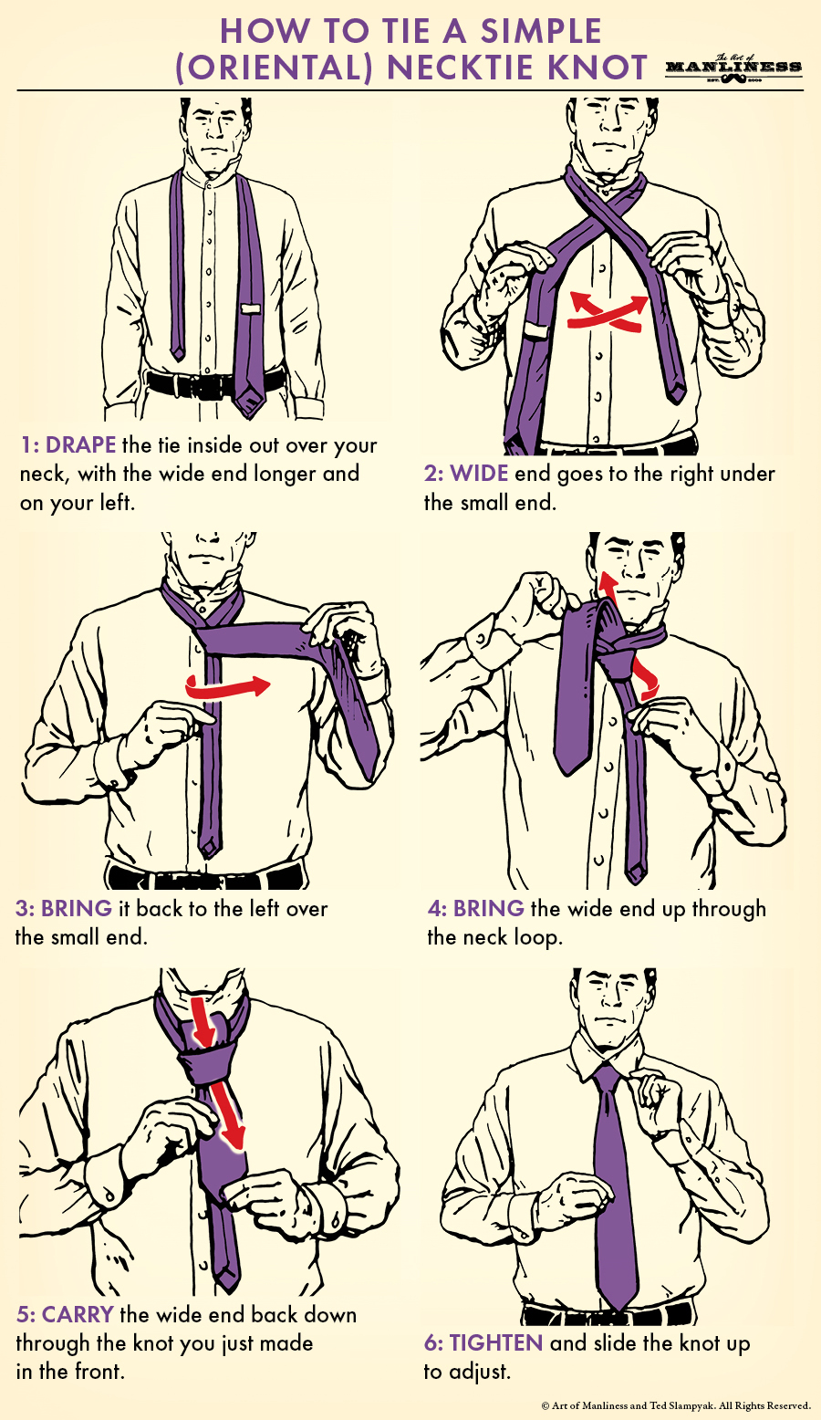 simple necktie knot oriental knot