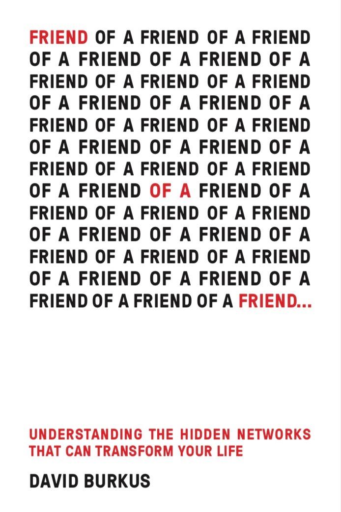Friend of a friend by David Burkus book cover.