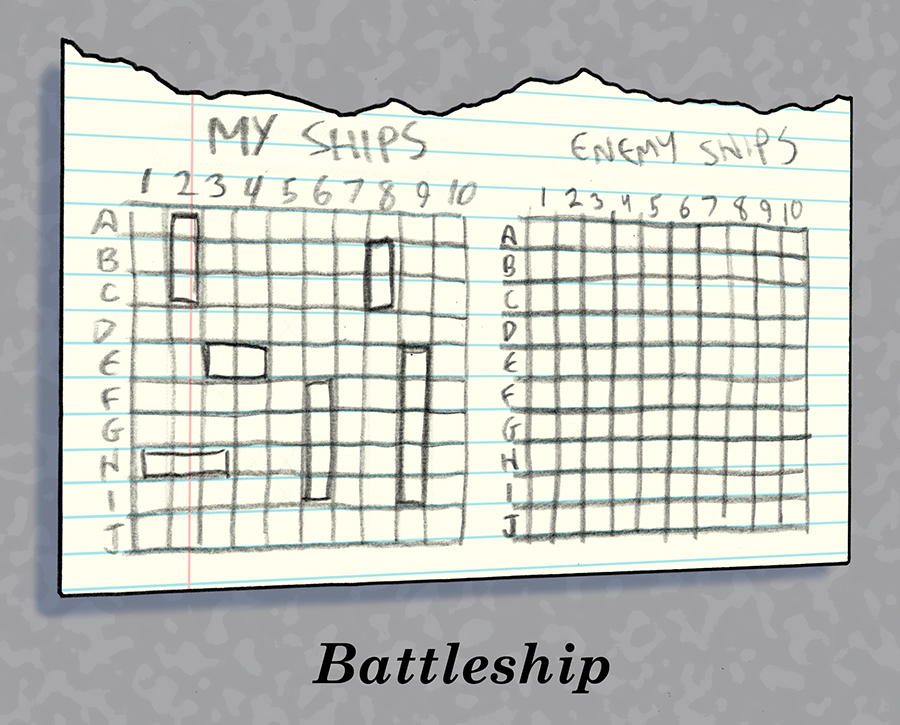 Battleship on a paper.