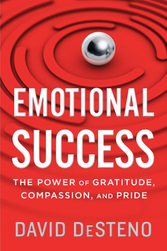 Book cover of Emotional Success by David DeSteno.