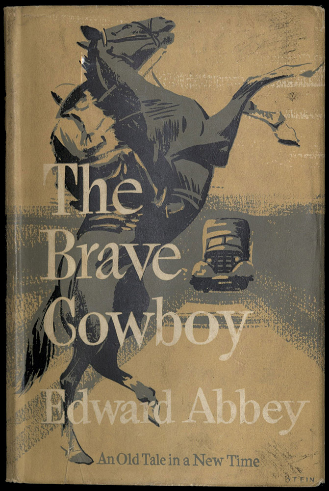Novel cover of The Brave Cowboy by Edward Abbey.