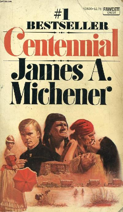 Novel cover of Centennial by James A. Michener.