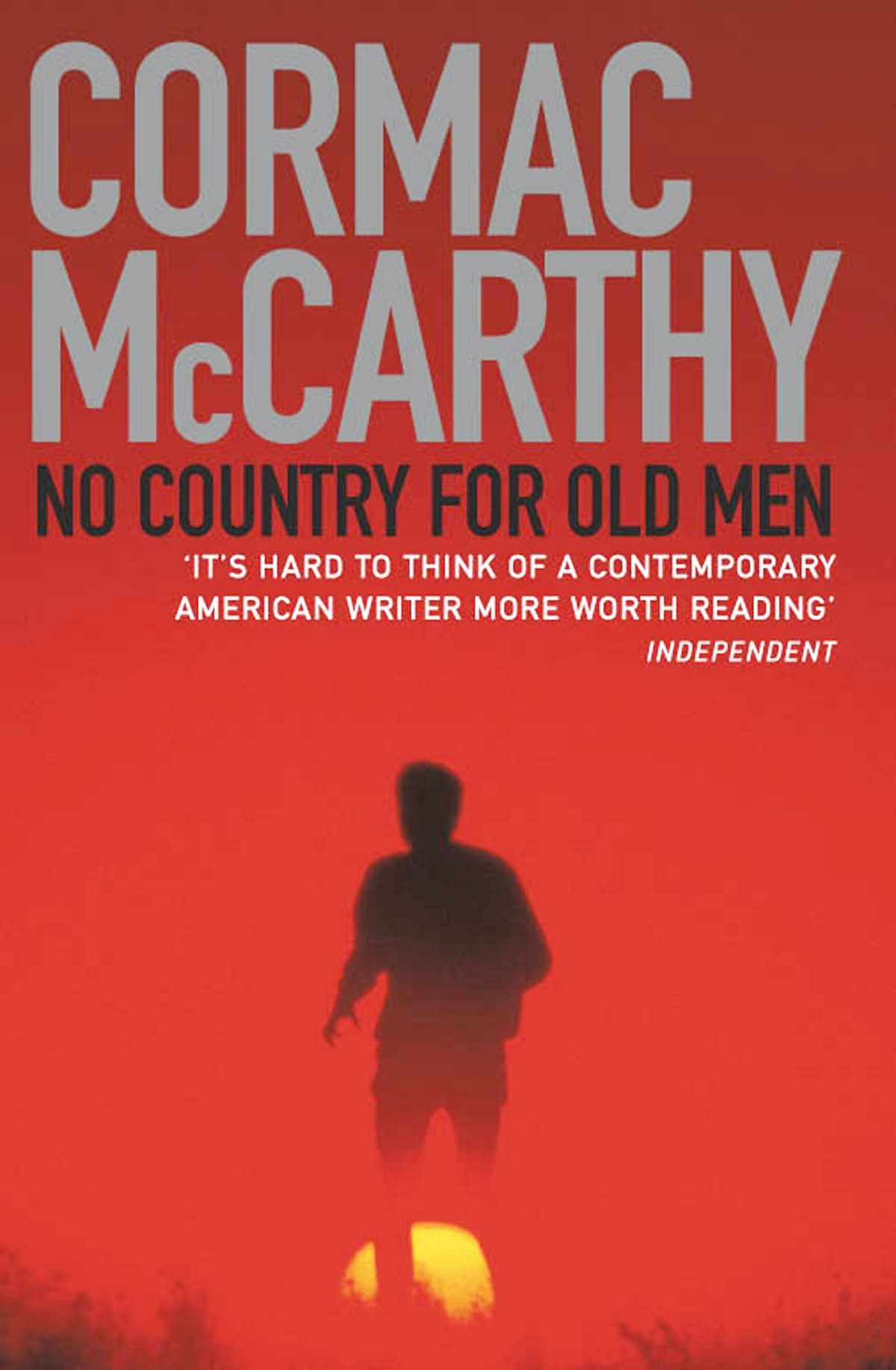 Novel cover of No Country for Old Men by Cormac McCarthy.