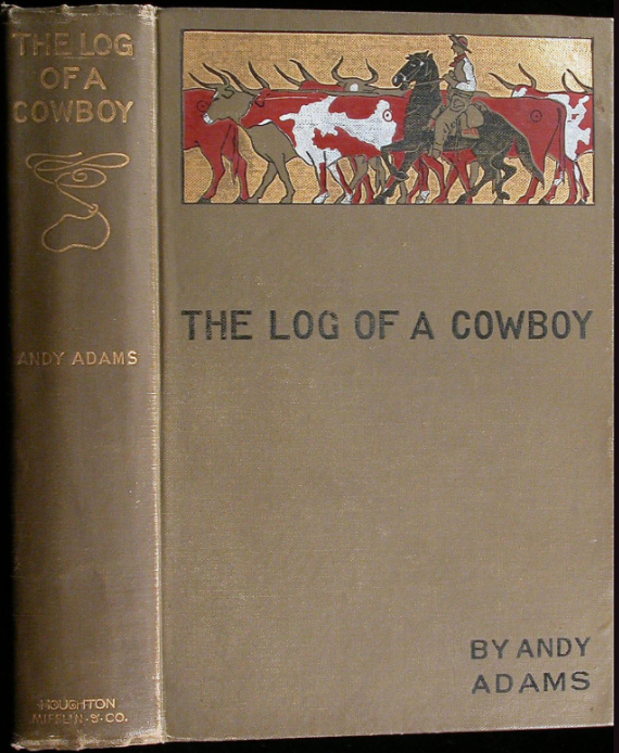Novel cover of The Log of a Cowboy by Andy Adams.