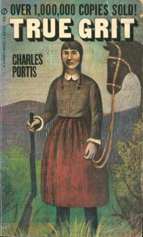 Novel cover of True Grit by Charles Portis.