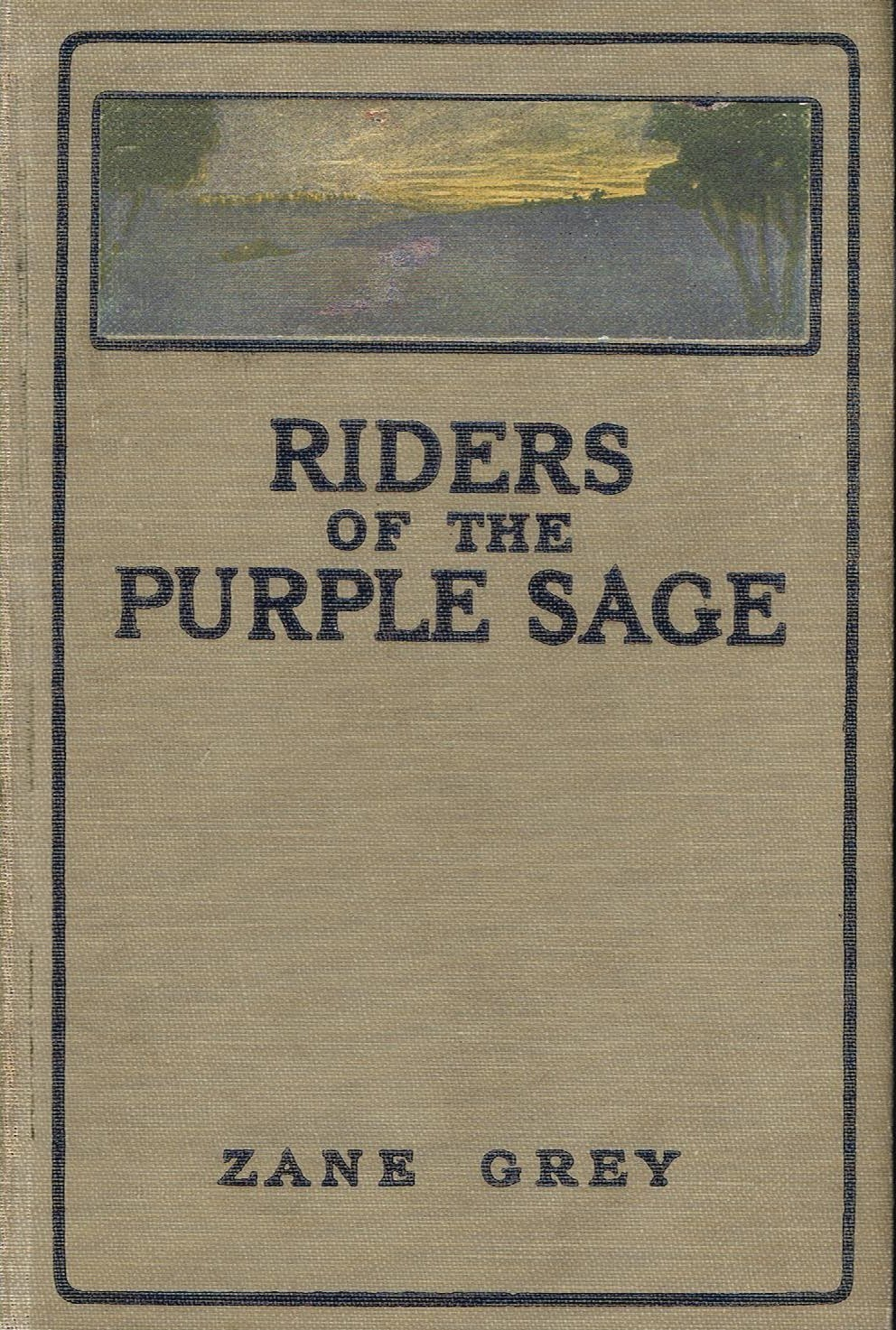 Novel cover of Riders of the Purple Sage by Zane Grey.