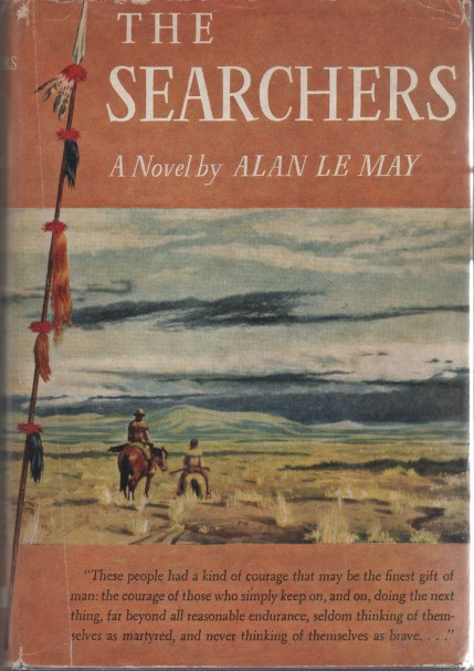 Novel cover of The Searchers by Alan Le May.