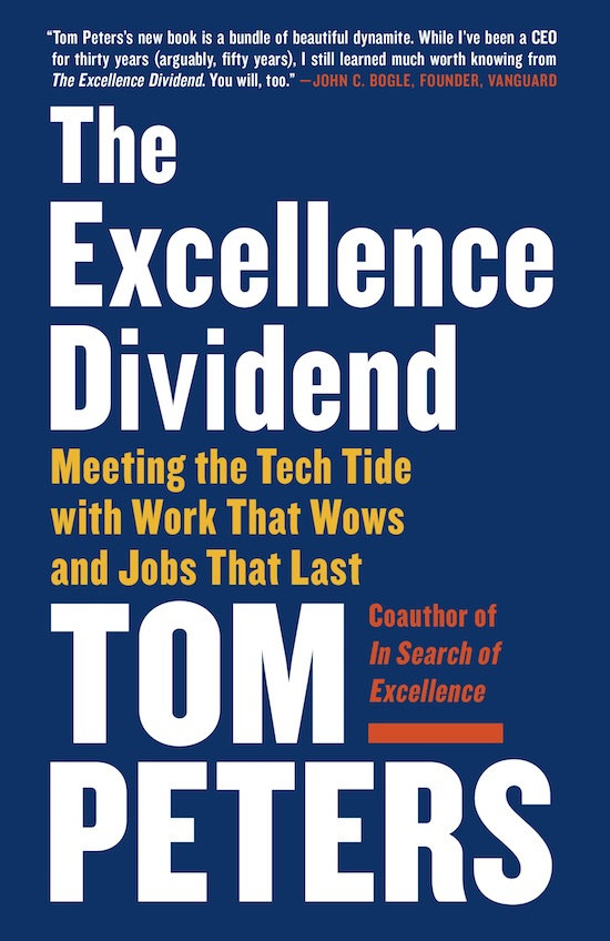 "Book cover of ""The Excellent Dividend"" by Tom Peters."
