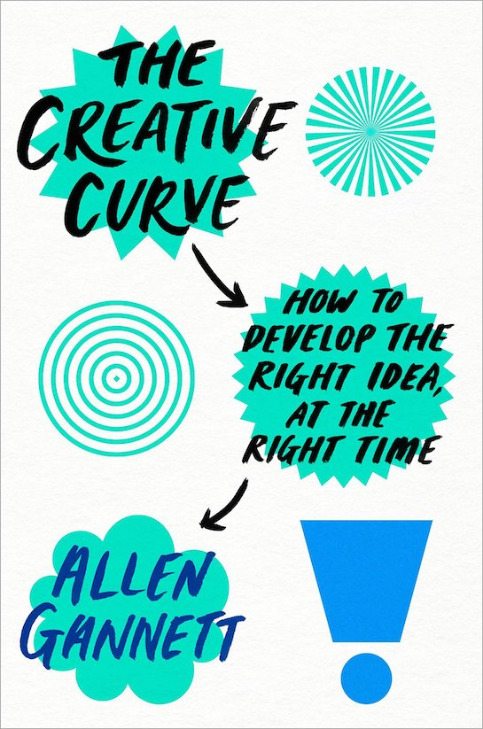 """Book cover of """"The Creative Curve"""" by Allen Gannett."""