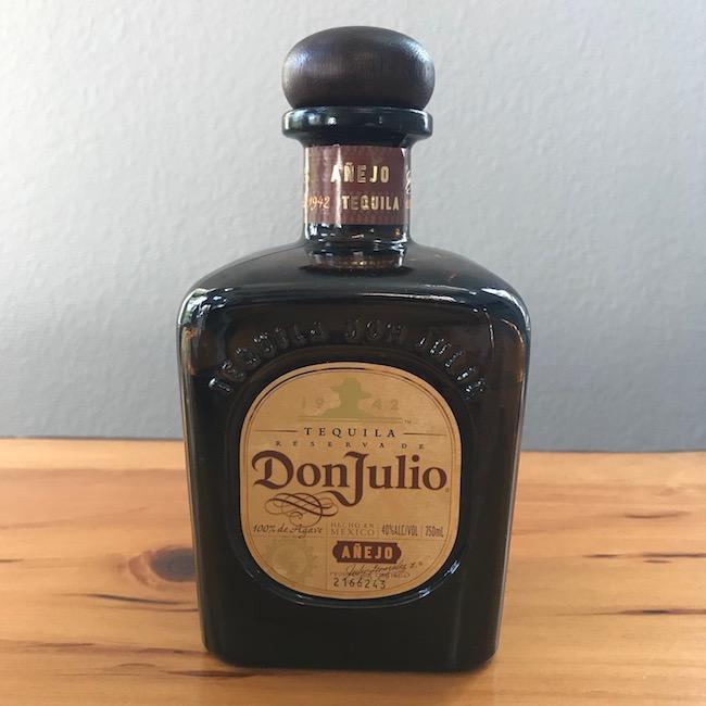 Tequila Donjulio bottle.