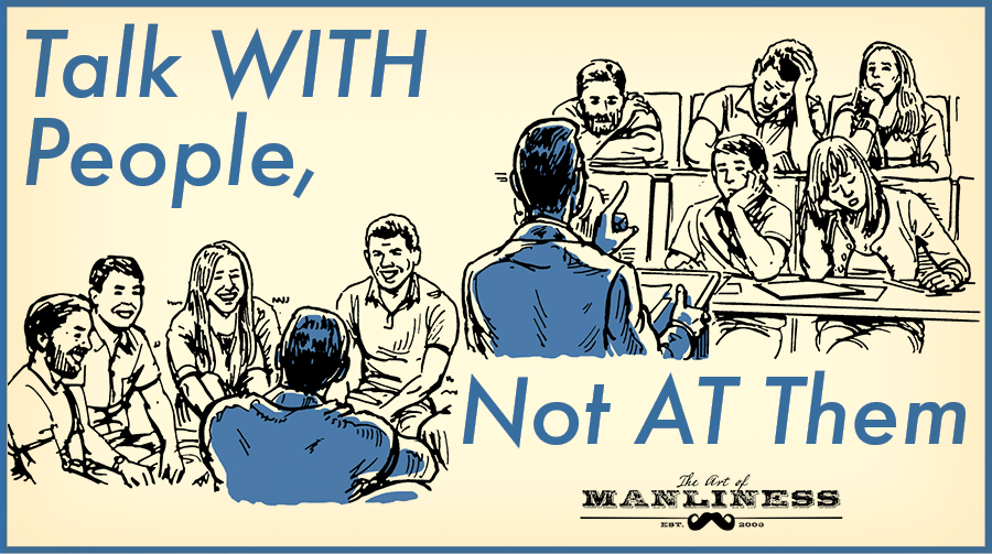 Illustration about how to talk with people.