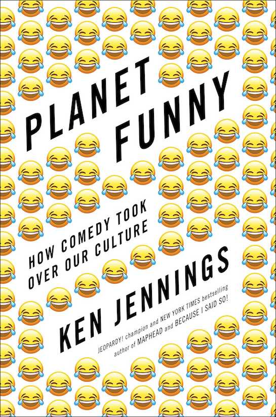 """Book cover of """"Planet Funny"""" by Ken Jennings."""
