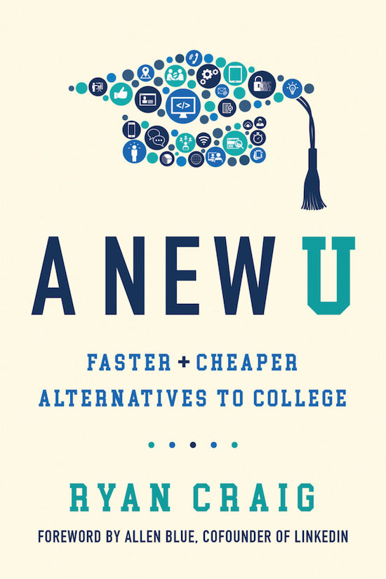 "Book cover of ""A New U"" by Ryan Craig."