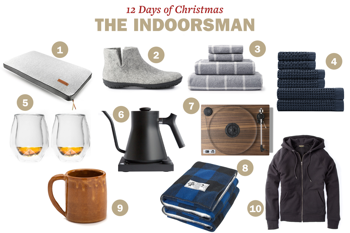 Huckberry gifts for indoorsman.