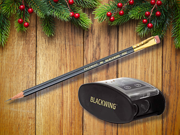 Blackwing's pencil and sharpener.