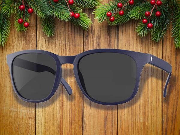 Purple huckberry weekender sunglasses.