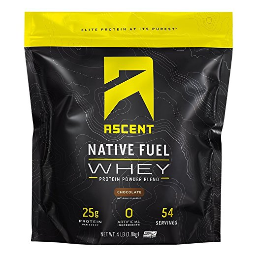 Ascent Native Fuel chocolate flavoured protein powder.