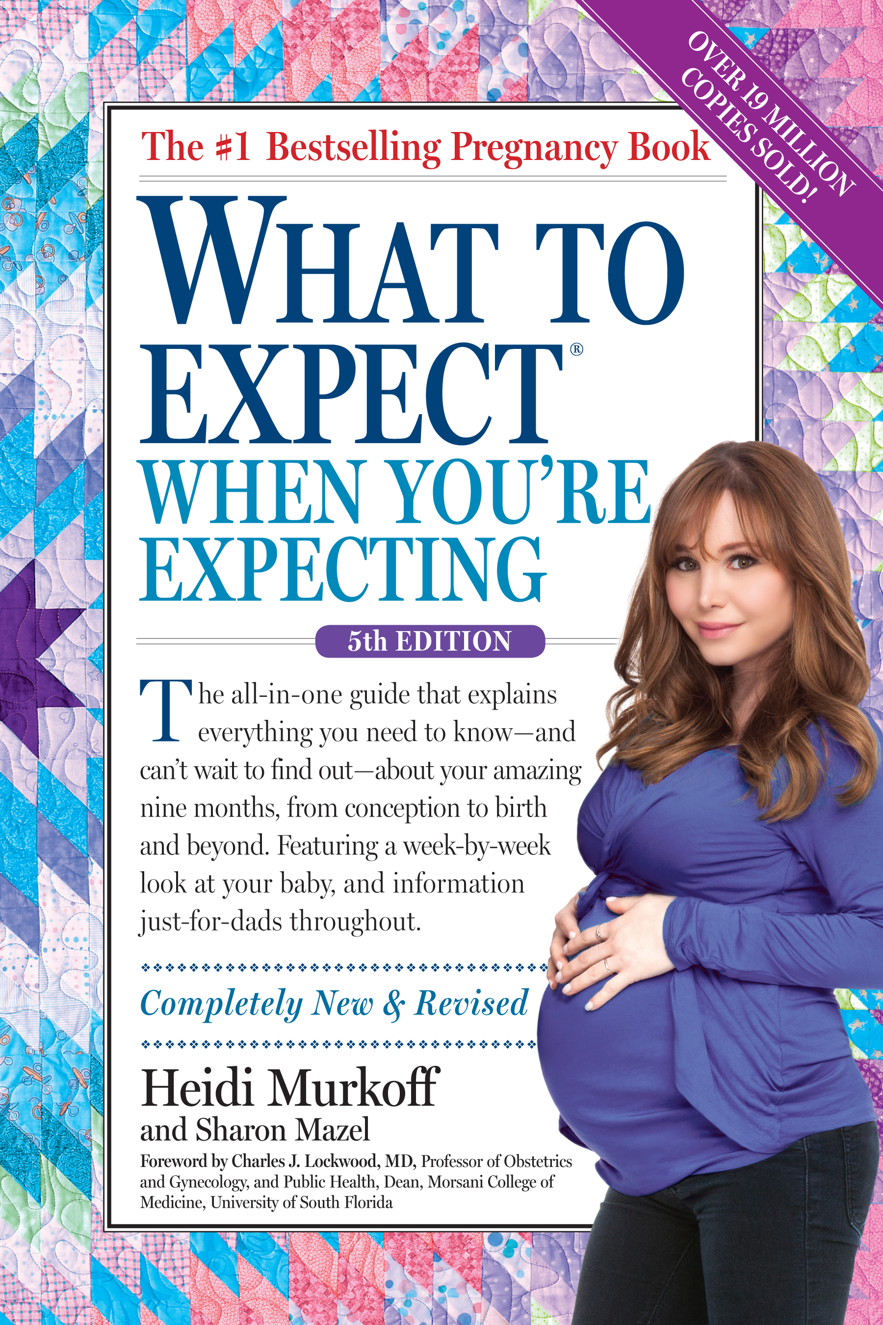 "Book cover of ""What to Expect when you're expecting"" by Heidi Murkoff."