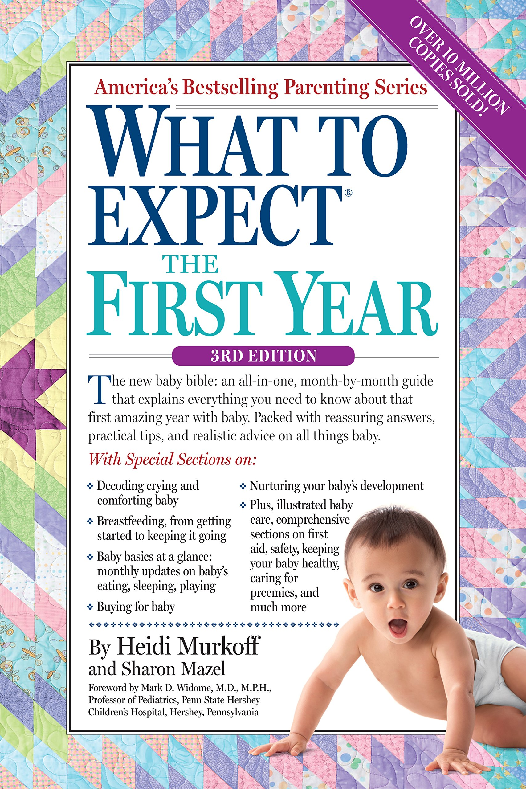 "Book cover of ""What to Expect the First Year"" by Heidi Murkoff."