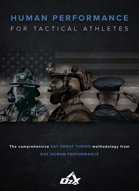 Poster by O2X about American Soldiers and performance for tactical athletes.
