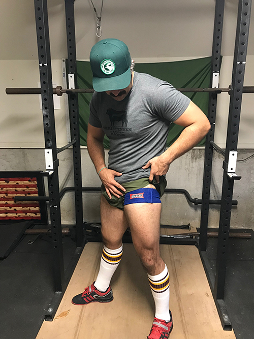 A man wearing compression.