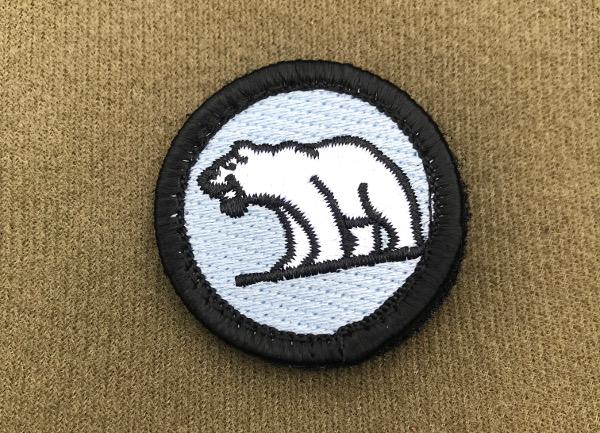 Polar bear Badge.
