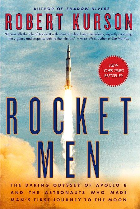 Book cover of a Rocket Men by Robert Kurson.