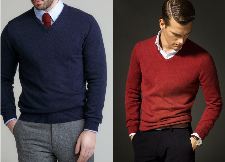 8b23d78e276a When choosing a sweater, pick one in 100% wool; cashmere is luxe, but  merino works very well at a more affordable price. Over a dress shirt. With  ...