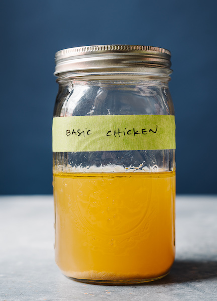 Stocked chicken in a bottle.