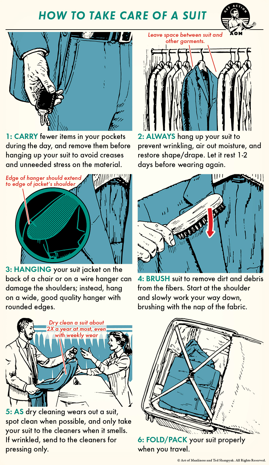 How to take care of a suit comic guide.