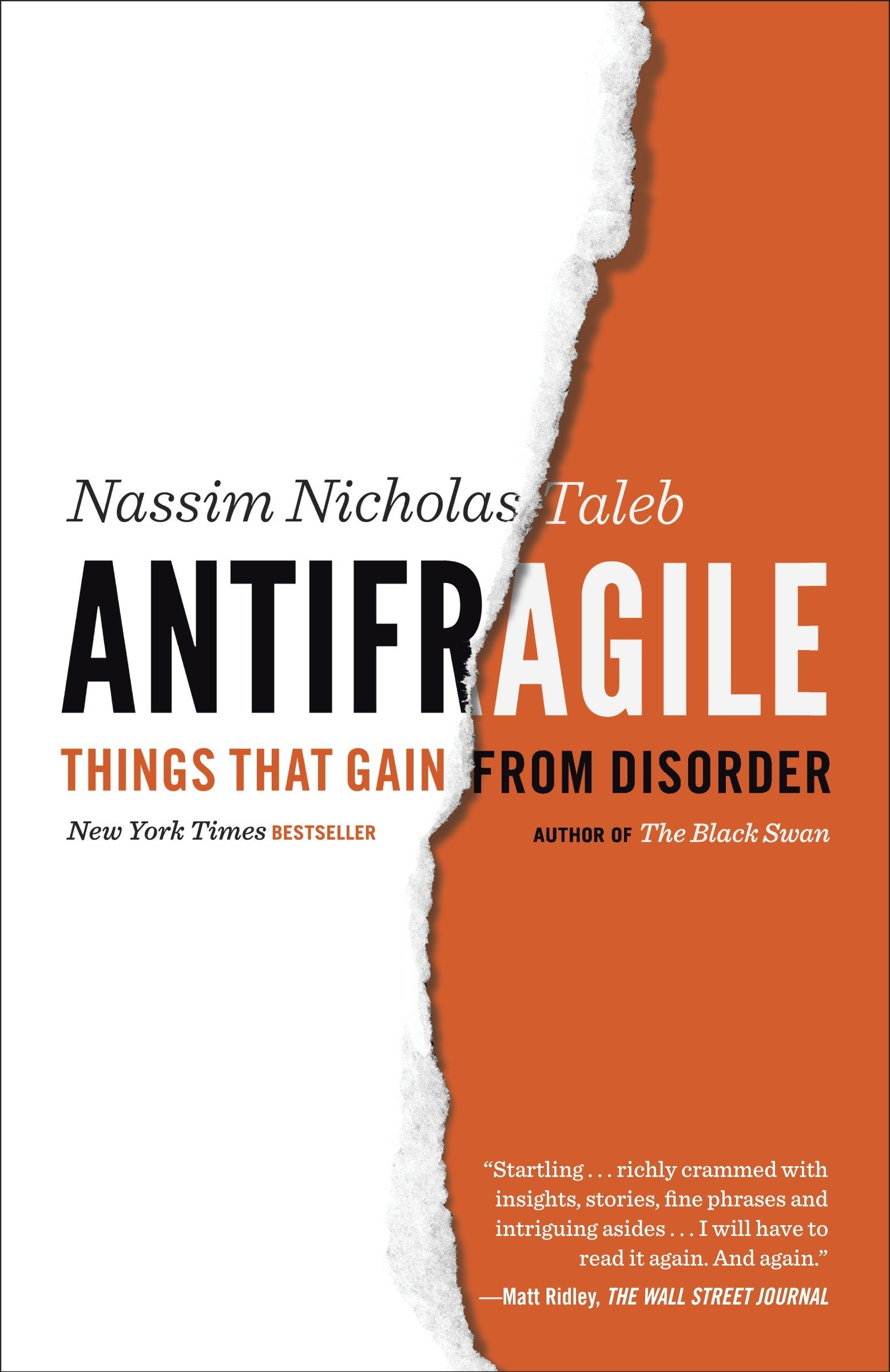 Antifragile by Nassim Nicholas Taleb book cover.
