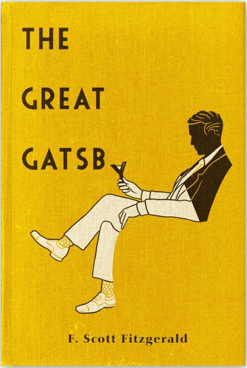 The book cover of The Great GATSB by F. Scott Fitzgerald.