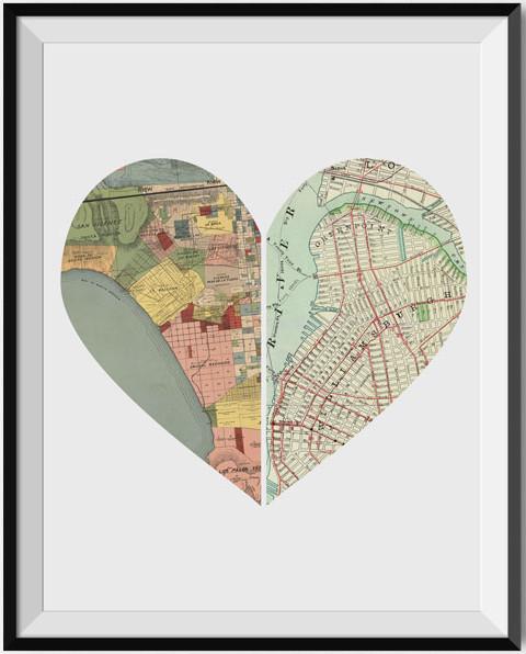 Heart map.