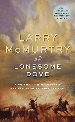 Lonesome Dove by Larry McMurtry book cover.