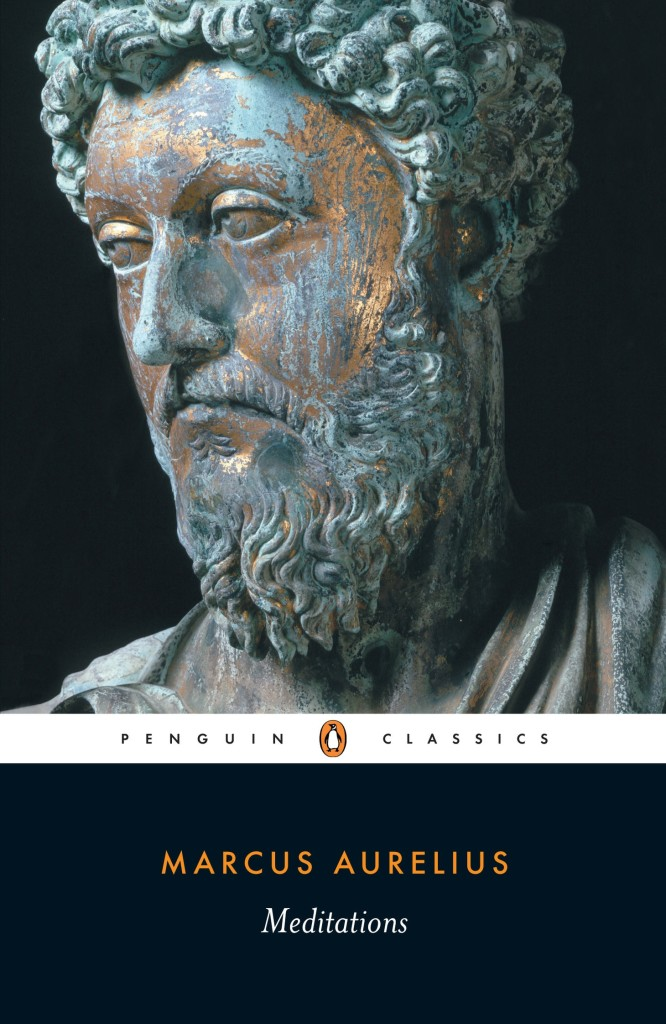 Meditations by Marcus Aurelius book cover.
