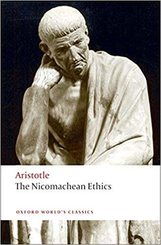Book cover of Nicomachean Ethics by Aristotle.
