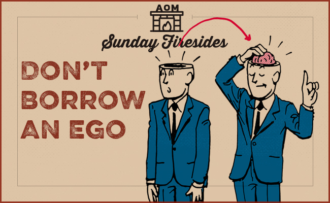 Poster by Sunday firesides about ego.