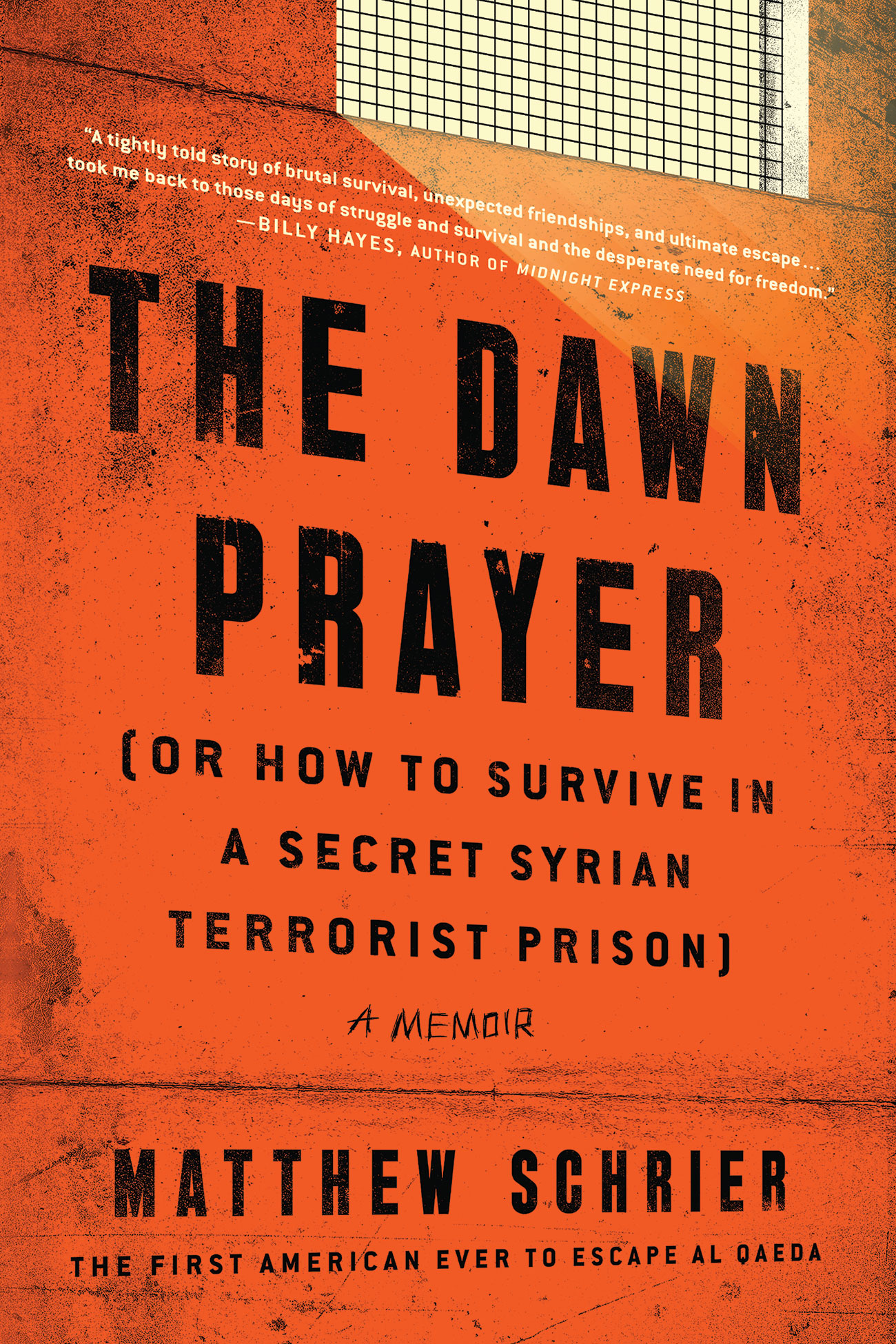 """Book cover page of """"The Dawn Prayer"""" by Matthew Schrier."""