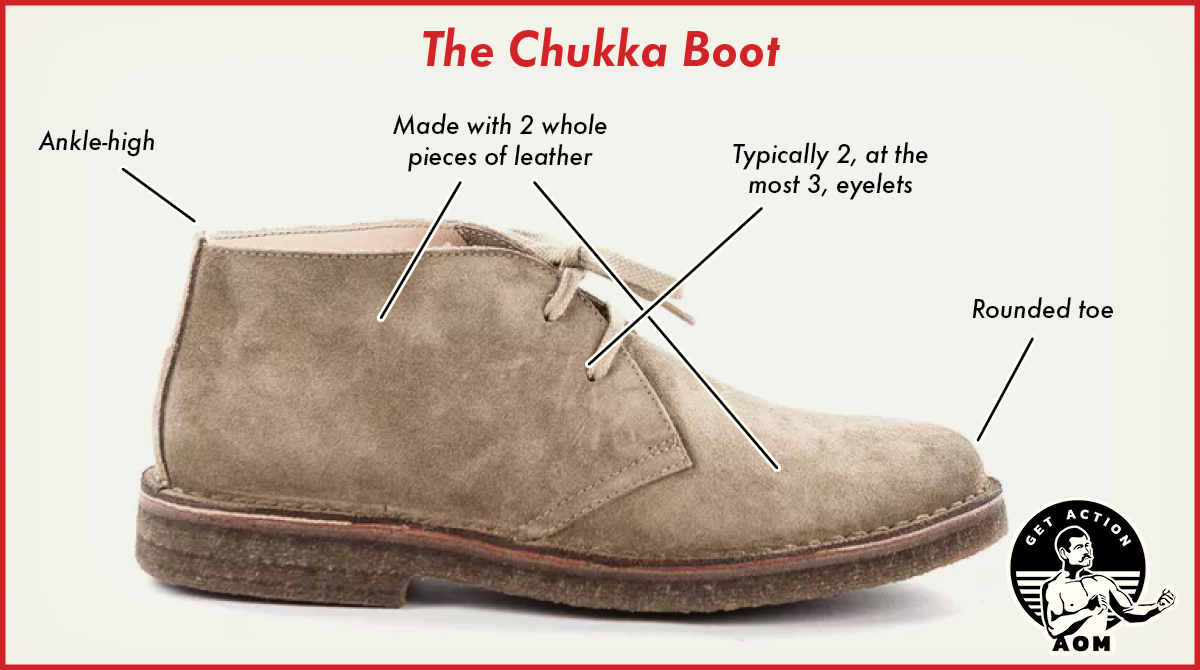 Chukka Boot with labeling.