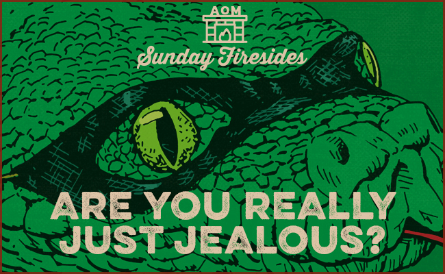 Poster by Sunday Firesides about Jealousy.