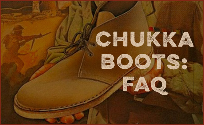 Chukka boot in hands.