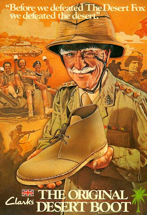 An old army man showing the original clerks desert boot.