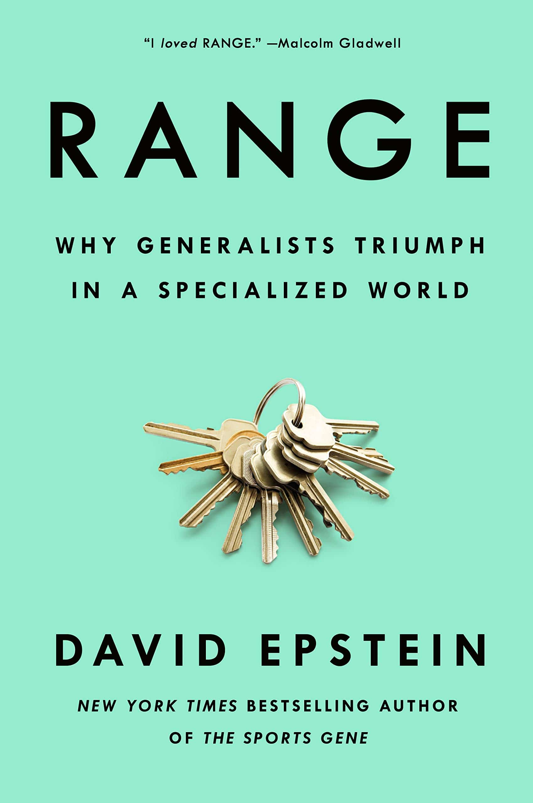"Book cover of ""Range"" by David Epstein."